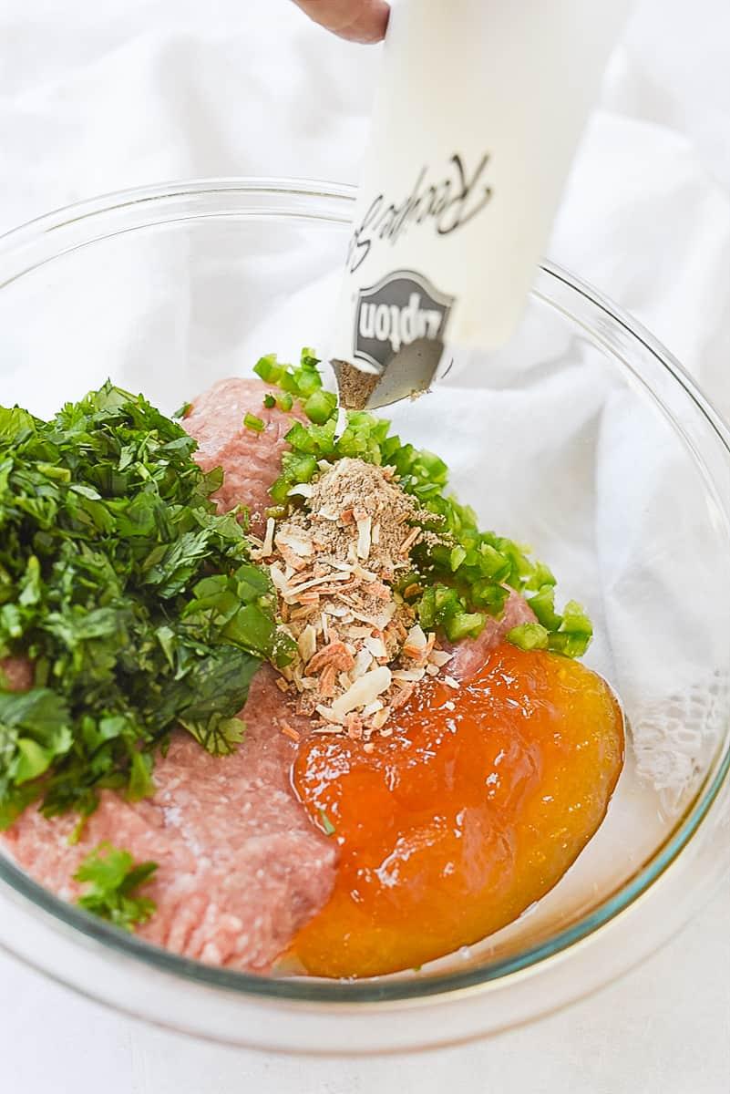 aioli ingredients in a bowl