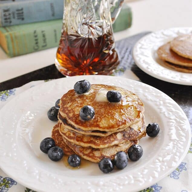 plate of whole wheat pancakes