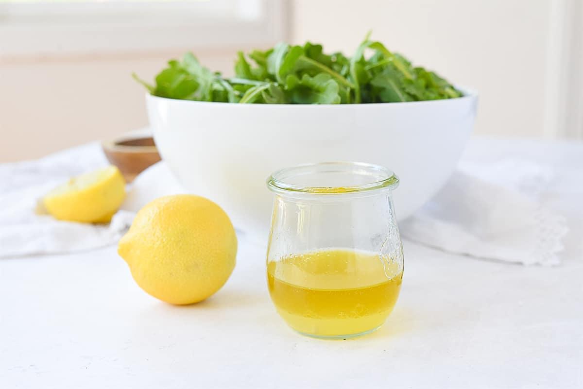 olive oil and lemon salad dressing