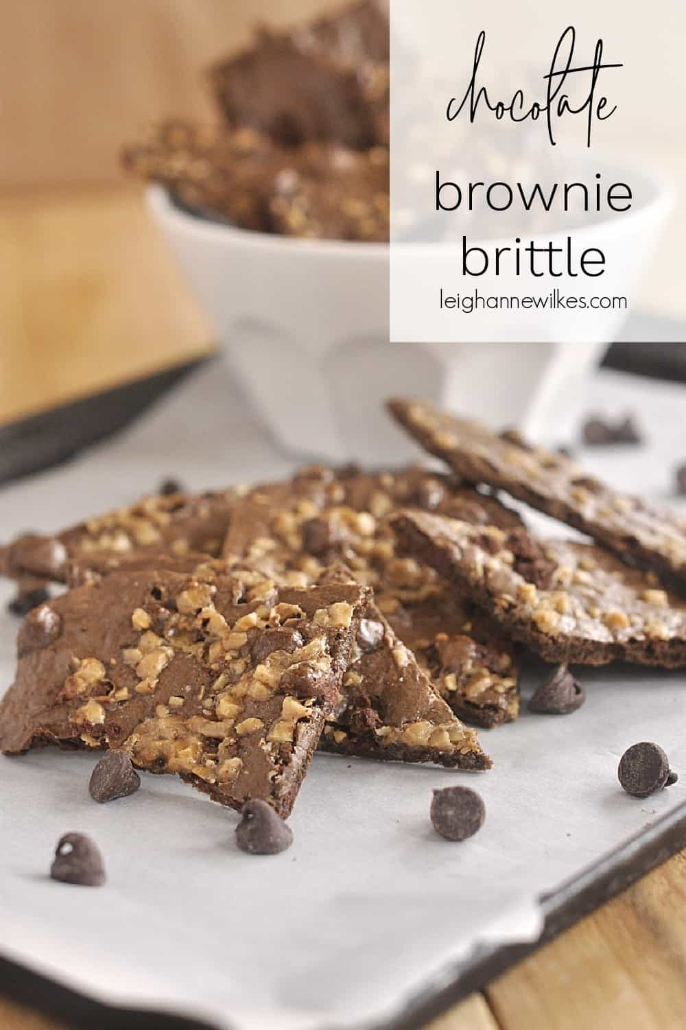 pile of brownie brittle
