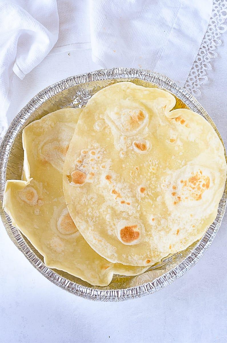 tortillas on a plate