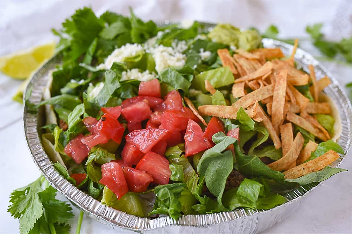 cafe rio salad with all the toppings