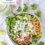 OVERHEAD shot of cafe rio salad