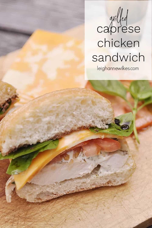 chicken sandwich on a roll