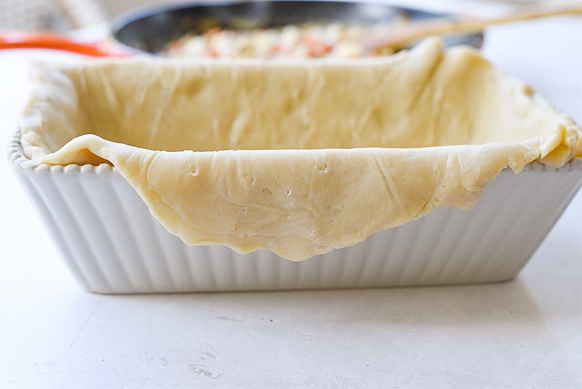 pie crust in bread pan