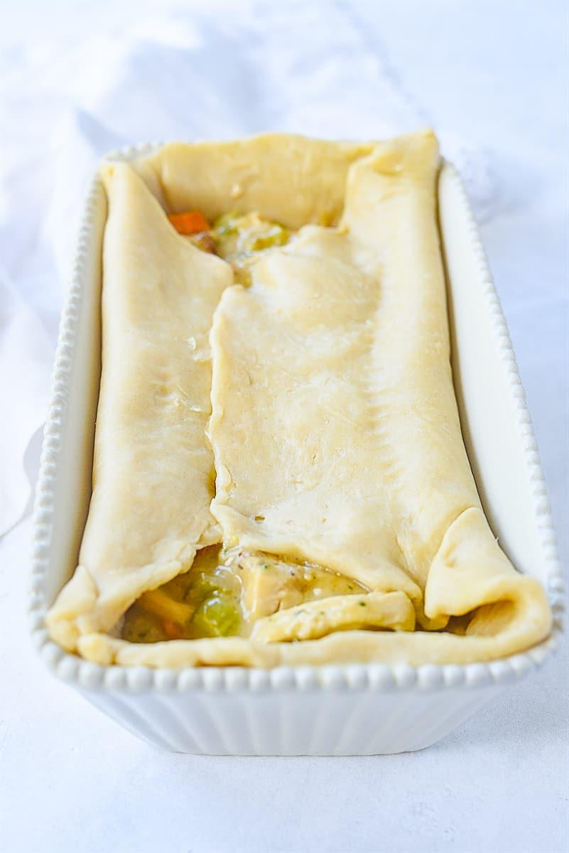 top of chicken pot pie pastry