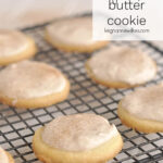 butter cookies on a cooling rack