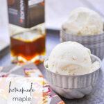 bowls of maple ice cream