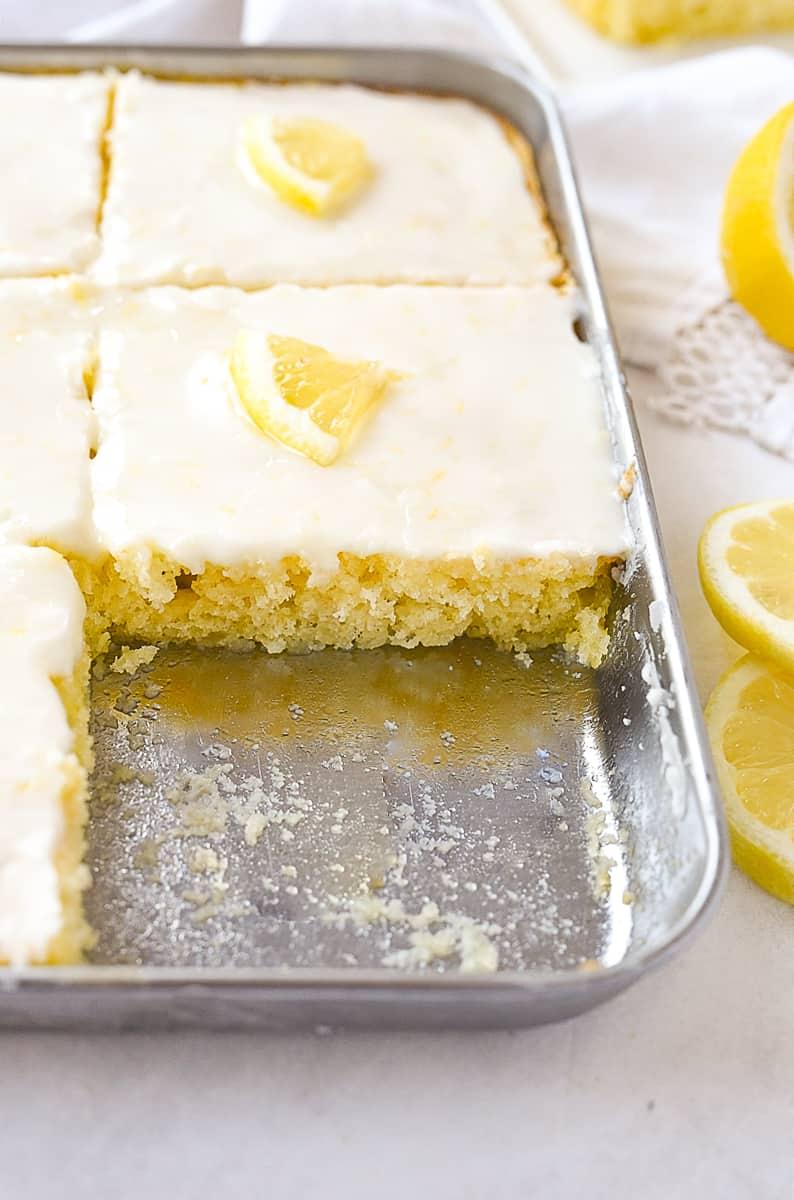 lemon sheet cake small batch