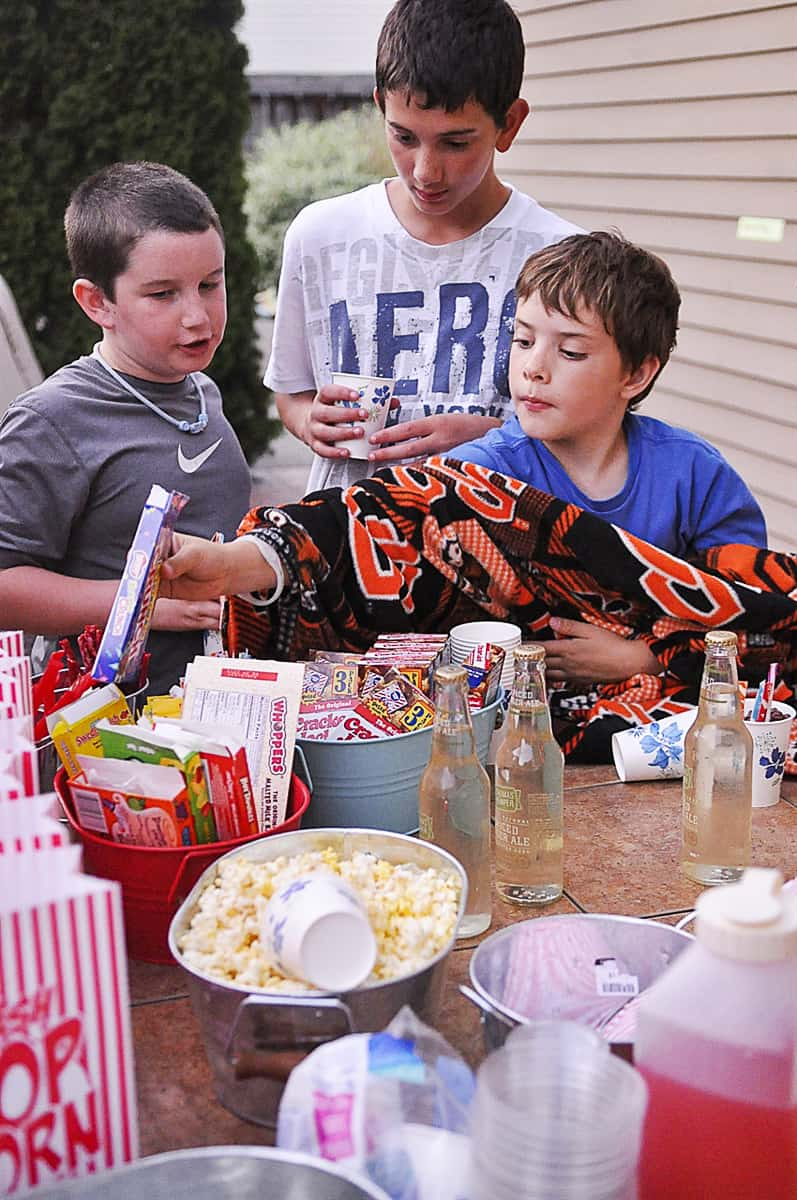 boys and movie candy