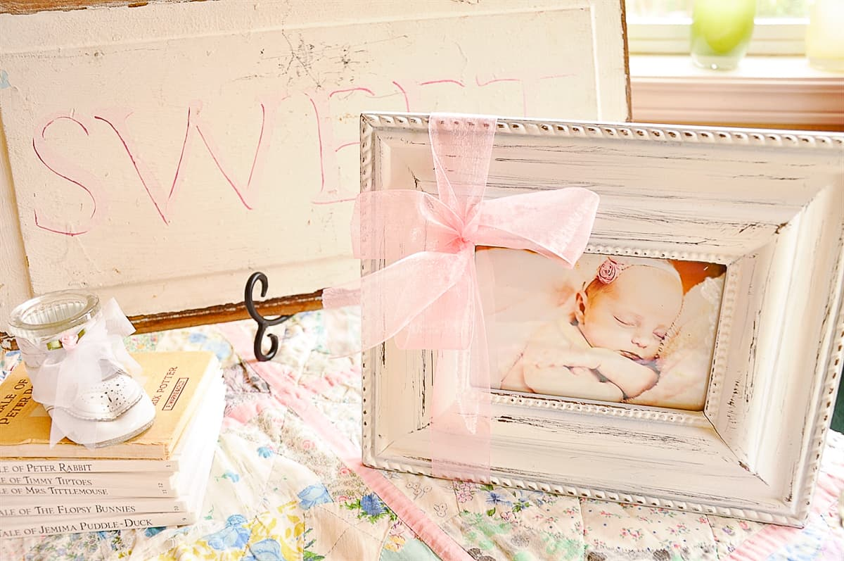 framed picture of a baby