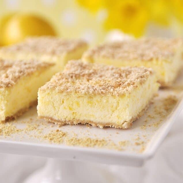 slices of frozen lemon dessertt