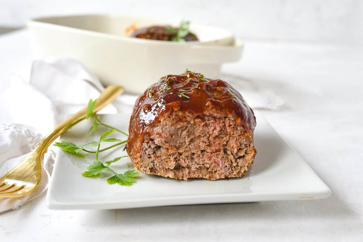 mini meatloaf on a plate