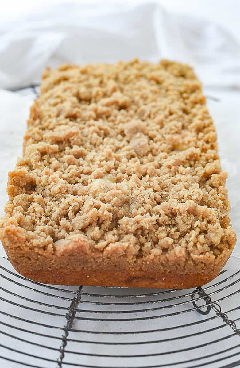 view of a small batch coffee cake