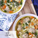 2 bowls of italian wedding soup